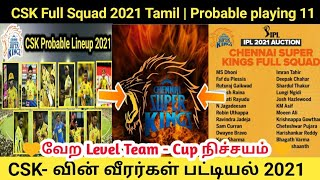 CSK Team Full Squad 2021 Tamil | Csk playing 11 2021 | Csk latest news Tamil| Tamil cricket news