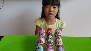 親子遊戲 寶貝拆迪士尼Disney Princess米奇妙妙屋出奇蛋 Киндер јаје 健達奇趣蛋Kinder Surprise Eggs視頻