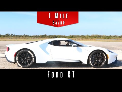 2017 Ford GT (Standing Mile Top Speed Test)