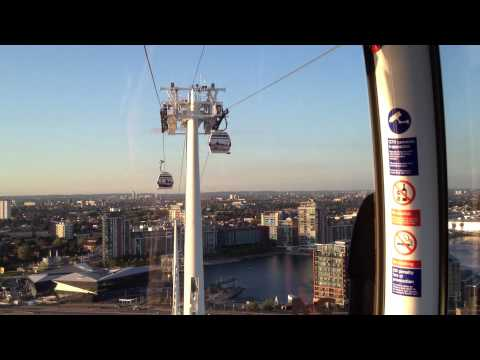 London Cable Car South to North