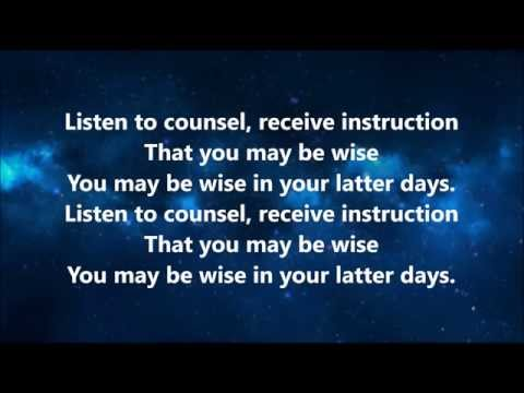 Listen to Counsel - Song with Lyrics