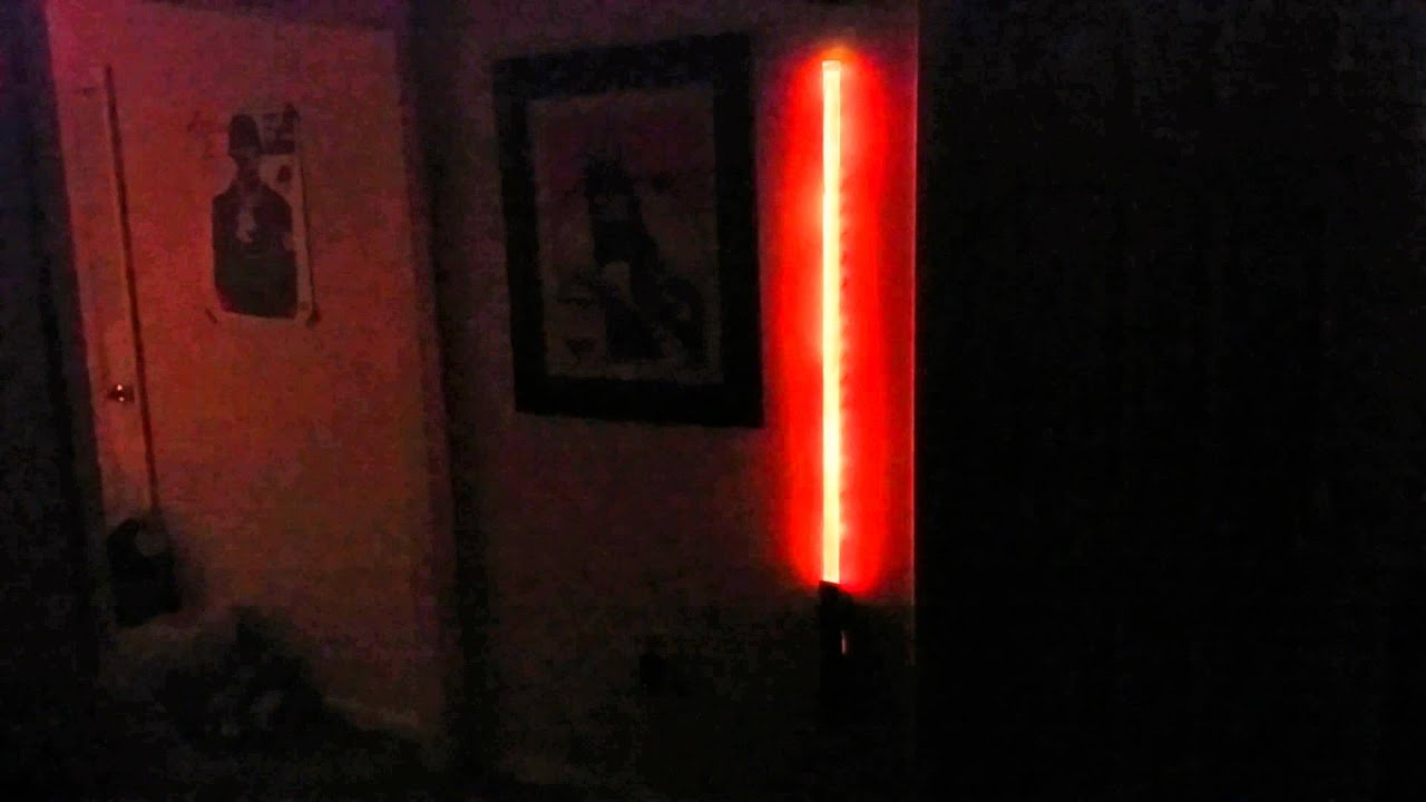 Homemade lightsaber wall lamp youtube aloadofball Images