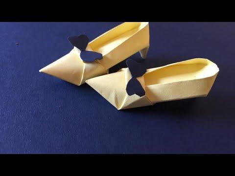 Miniature diy paper shoes 👠 #paper crafts