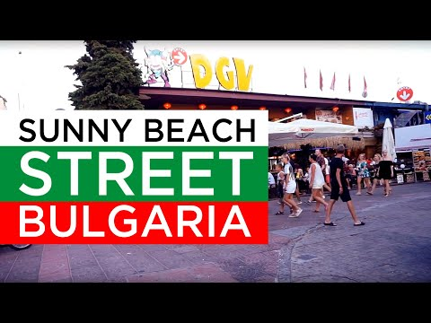 Sunny Beach  Bulgaristan Da Yaşam (Sunny Beach Street)