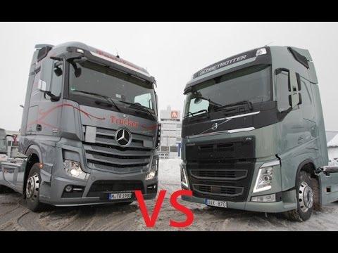 scania r vs mercedes new actros . euro truck simulator 2 - youtube