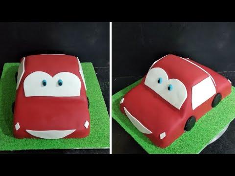 Fondant Car Cake | Decorating Ideas | Fancy Cake  Red Colour Cake Design Making By Sunil Cake Master