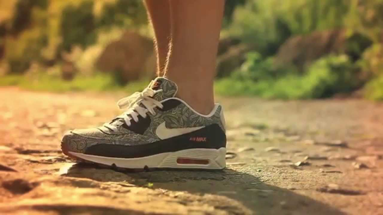 Liberty x Nike Air Max 90 - On-feet Review - YouTube c30adcd54fa1