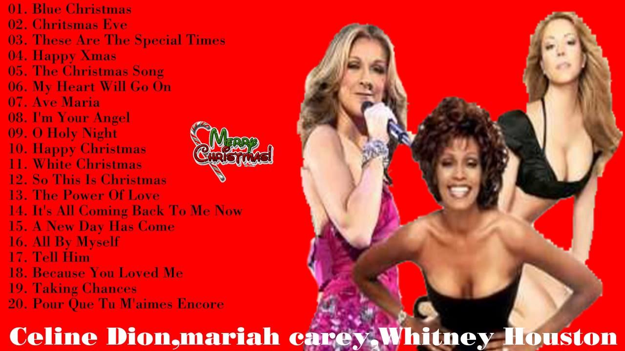 Celine Dion,mariah carey ,Whitney Houston merry christmas Greatest ...