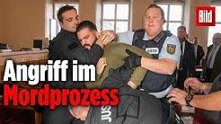 Im Stückelmord-Prozess von Erlangen geht ein Zuschauer brutal auf den Angeklagten los