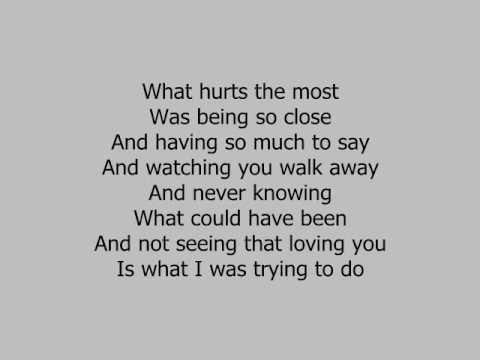 rascal flatts lyrics- what hurts the most