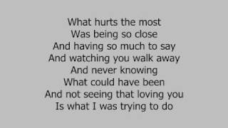 Rascal Flatts - What Hurts the Most (piano w/ lyrics)