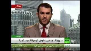 David Keyes Holds Syrian Regime Accountable on RT (Live Arabic Interview)
