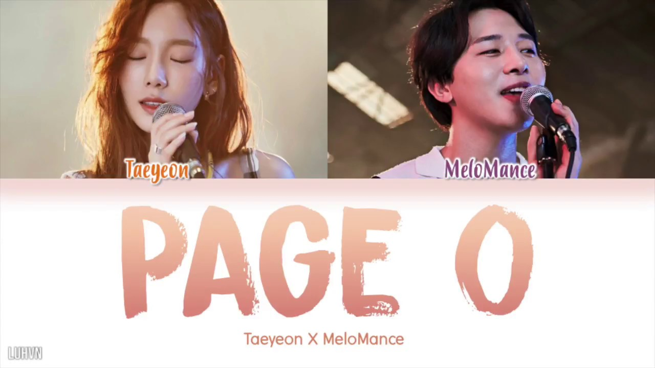 TAEYEON (태연) X MELOMANCE (멜로망스) - 'Page 0' LYRICS [HAN|ROM|ENG COLOR CODED] 가사