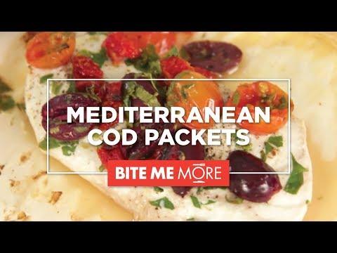 DINNER RECIPE Easy Mediterranean Cod Packets