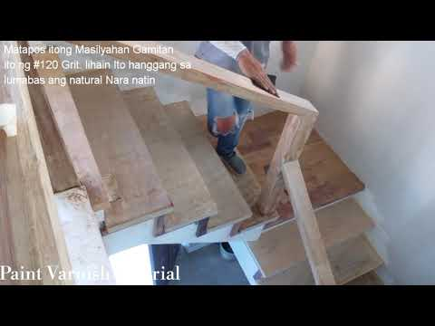 Part 1 Stair Step Preparation Hard Wood Re-Varnish Step By Step Tagalog