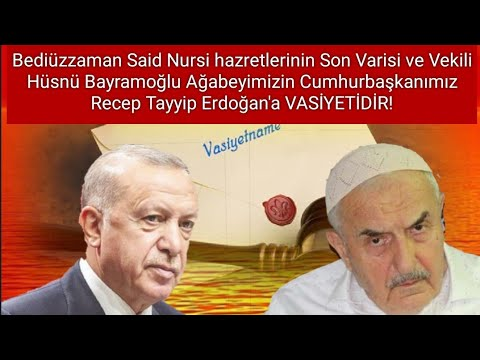 Hüsnü Bayramoğlu Ağabeyin Cumhurbaşkanımız Sn. Recep Tayyip Erdoğan'a Vasiyeti O