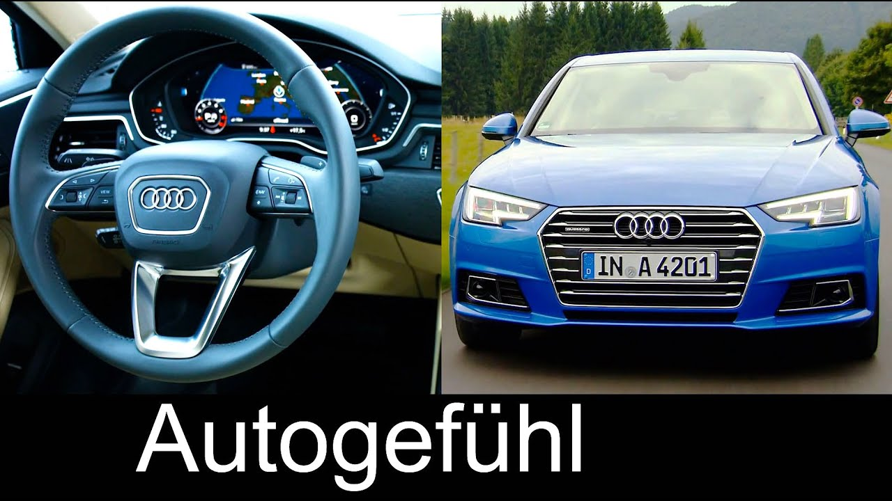 Preview all new audi a4 ara blue exterior interior driving scenes autogef hl youtube
