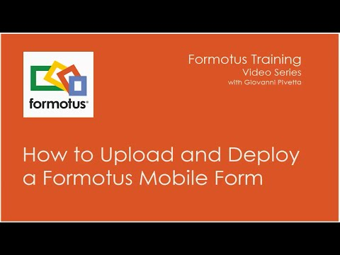 Formotus With InfoPath: Upload And Deploy Your Form
