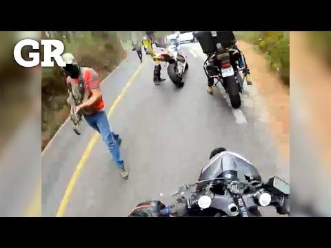 Asaltan a motociclistas