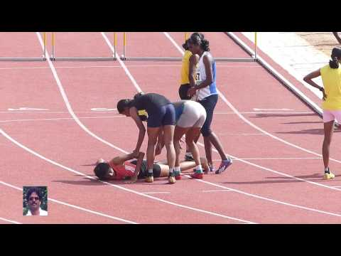 100m HURDLES FINAL. STATE LEVEL CHIEF MINISTER'S TROPHY SPORTS MEET-2016
