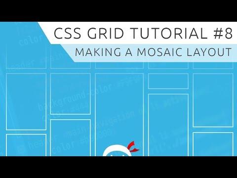 CSS Grid Tutorial #8 - Mosaic Layout thumbnail