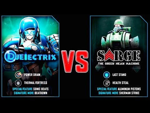REAL STEEL WRB DJ ELECTRIX VS Sarge New Robots UPDATE (Живая сталь)