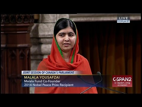 Malala Yousafzai addresses Canadian Parliament -- FULL SPEECH -- (C-SPAN)