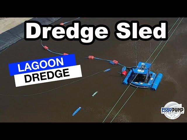 Dredge Sled Drone Footage - Lagoon Dredger System - Industrial Pond & Lagoon Dredge Equipment