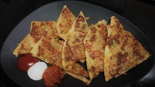 8-बेसन पकौड़ा पराँठा, Besan pakoda parantha (Hindi/Urdu/English)