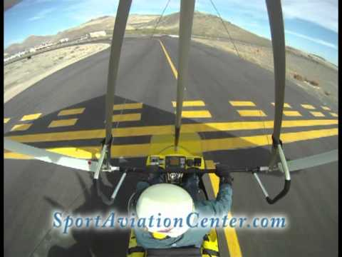 Trike Flying Part 1 Airport Taxi takeoff Carson City Nevada