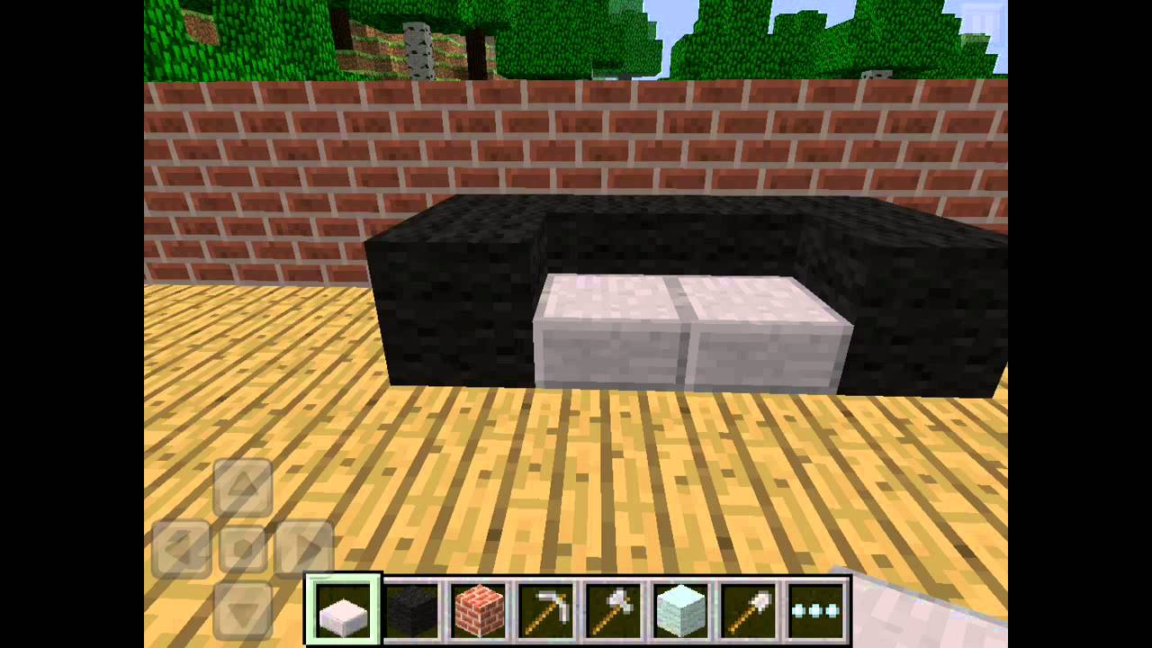 How To Make A Couch On Minecraft Pocket Edition - YouTube