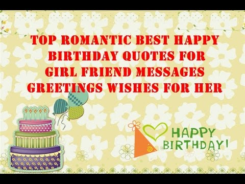 Romantic birthday text messages for your girlfriend