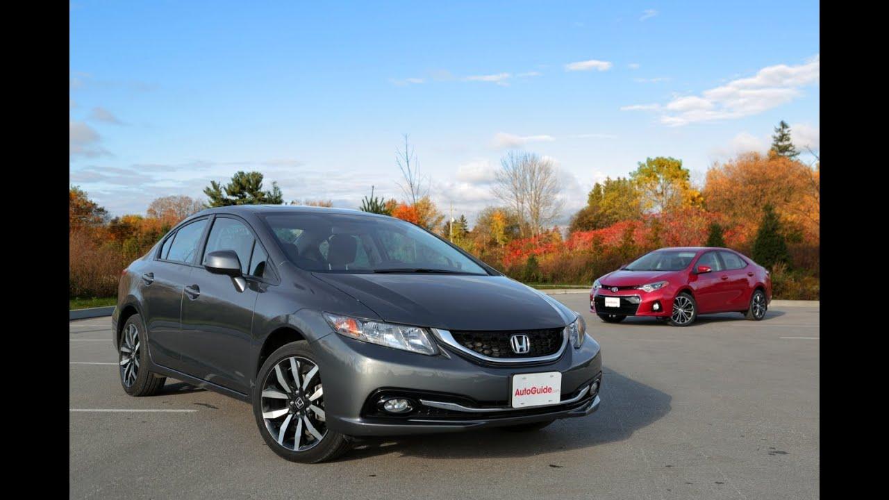 2013 Honda Civic vs 2014 Toyota Corolla  YouTube