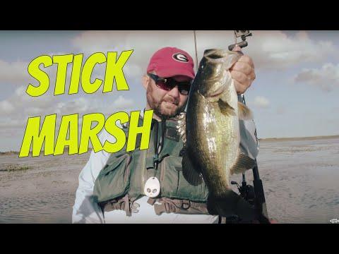 Kayak Bass Fishing Stick Marsh | Ft. Jason Broach and Flukemaster