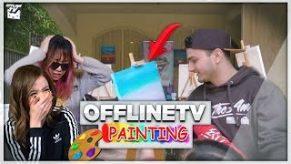 DRUNK PAINTING CLASS W/ OFFLINETV ft. LILYPICHU, SCARRA, POKIMANE, FEDMYSTER & MORE