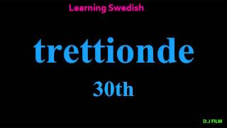 "Learning Swedish (Lesson 6) ""Numbers"""