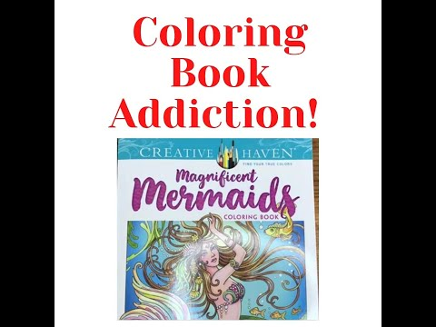 Coloring Book Addiction! Coloring Book Sale Haul & Review of Creative Haven Adult Coloring Books