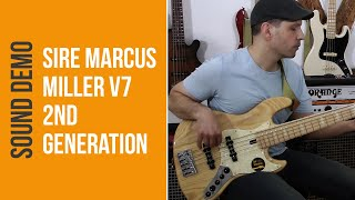 Sire Marcus Miller V7 Swamp Ash 5 NT 2nd Generation Bass - Sound Demo (no talking)
