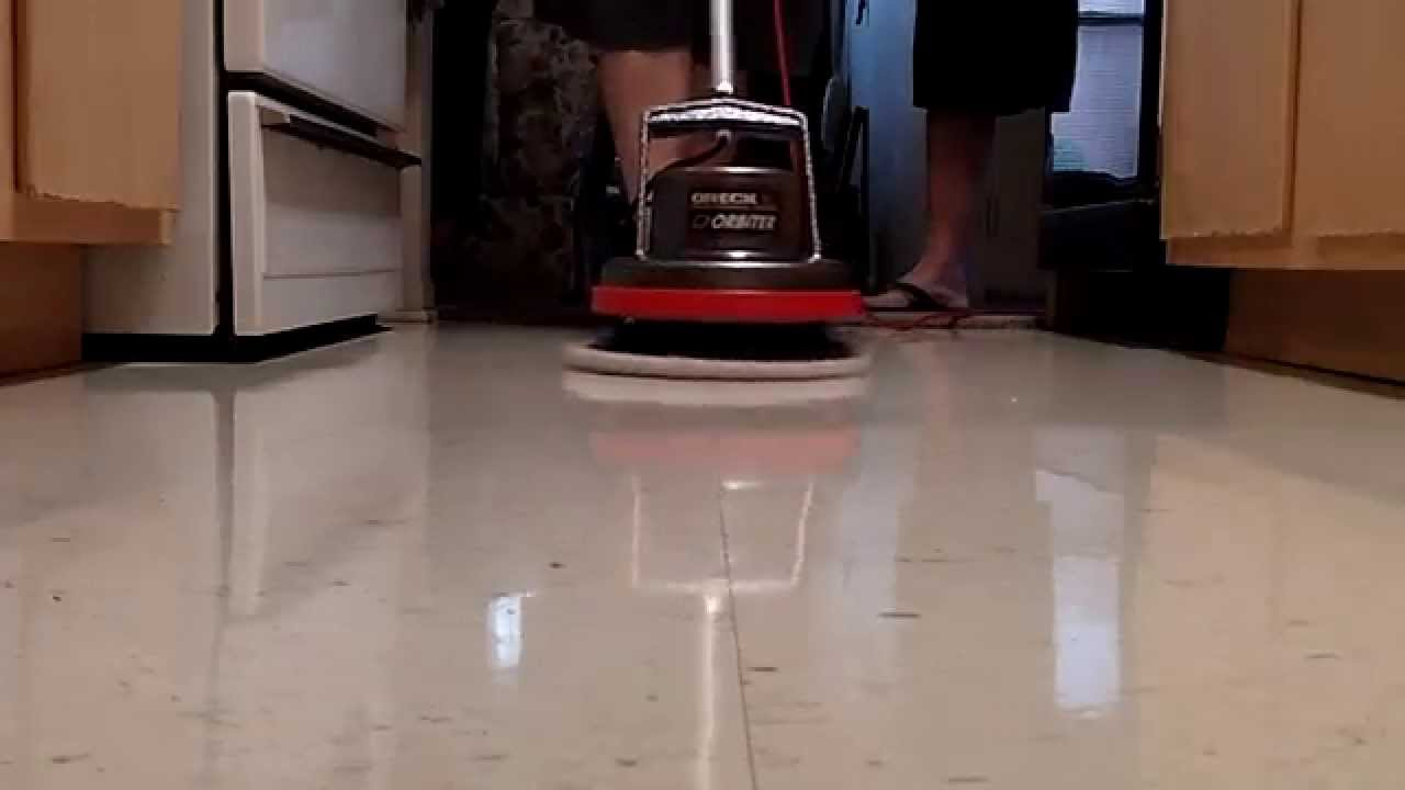 Polishing a waxed floor with oreck orbiter youtube dailygadgetfo Gallery