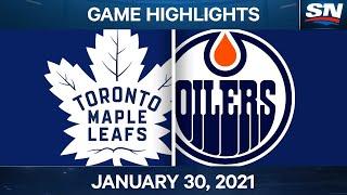 NHL Game Highlights   Maple Leafs vs. Oilers - Jan. 29, 2021