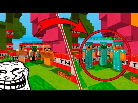 TROLLEANDO HACKERS CON SKIN FALSA DE DIAMANTE!! Diamond Armor Challenge Minecraft