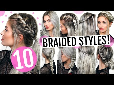 10 HEATLESS BRAIDED HAIRSTYLES! CUTE & EASY!