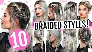 10 HEATLESS BRAIDED HAIRSTYLES! CUTE & EASY! | LYSSRYANN
