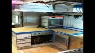 Complete galley refit on large super yacht during major refit by PURE Superyacht Refit