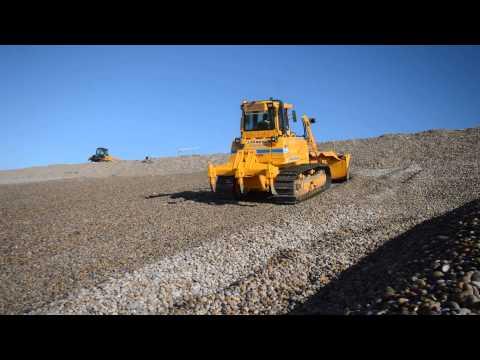 The UK's first Dressta dozer on sea defence work