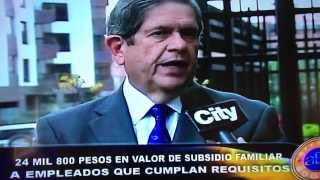 CITYTV- ARRIBA BOGOTÁ-  ASOCAJAS- CUOTA SUBSIDIO FAMILIAR