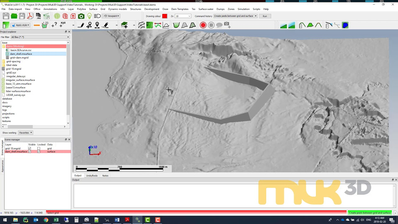 Creating a fill-elevation curve for a dam – MineBridge