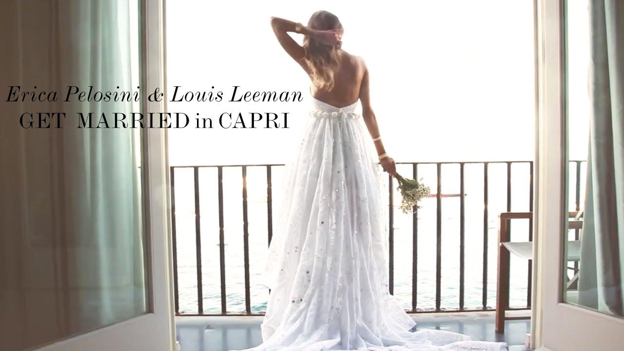 Erica Pelosini & Louis Leeman Get Married in Capri - YouTube