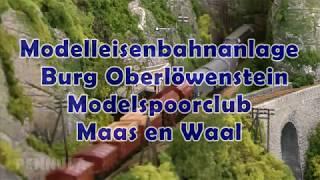"""Modelleisenbahn Diorama """"Burg Oberlöwenstein"""" vom Modelspoorclub Maas en Waal in Spur N"""