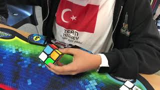 1.40 seconds Turkish national record 2x2 single - Acar Gök (done at St. Michielsgestel 2018 finals)